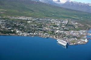 Overview of Akureyri Cruise Port