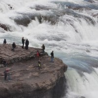 Gullfoss Waterfall in the Golden Circle day tour for cruise ships