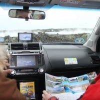 Rental car self drive for cruise ships in Iceland