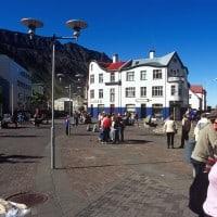 Isafjordur town Squre